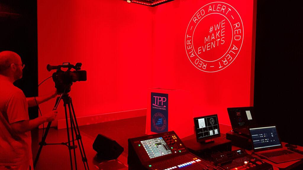 Virtual studio set up